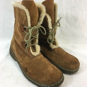BASS EDSON Boots LEATHER SUEDE Sherpa Lined